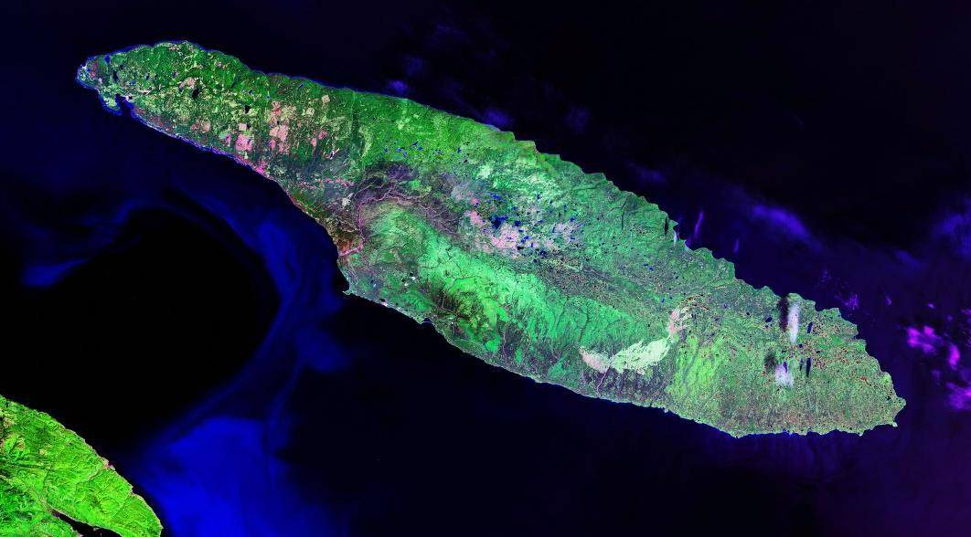 Satellite Image of Anticosti Island